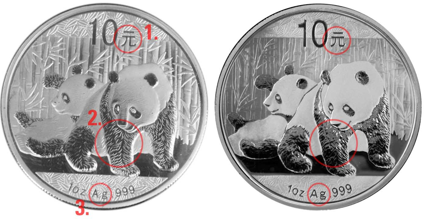 Gold And Silver Pandas Counterfeits And Fakes