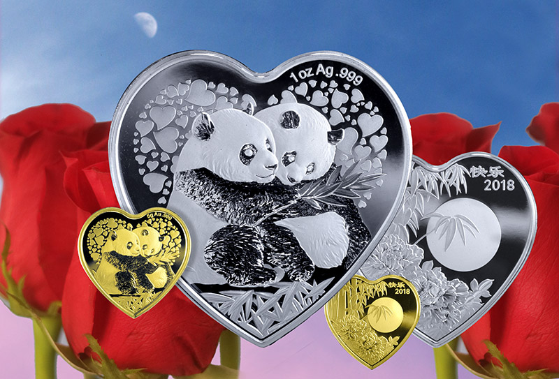 Valentine Bamboo Panda coin medal