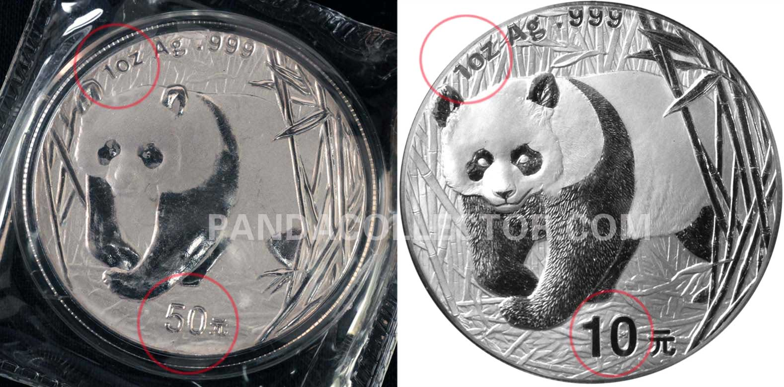 2001 Counterfeit 1 oz. Silver Panda