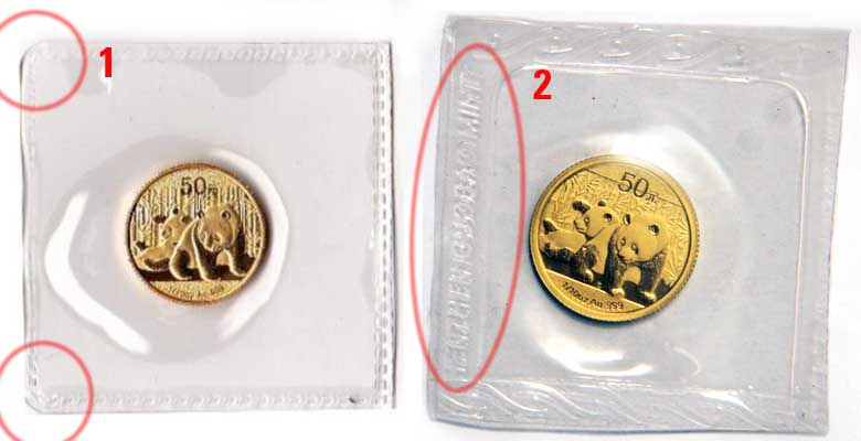 2010 Counterfeit 1/10 oz. 50 Yuan Gold Panda